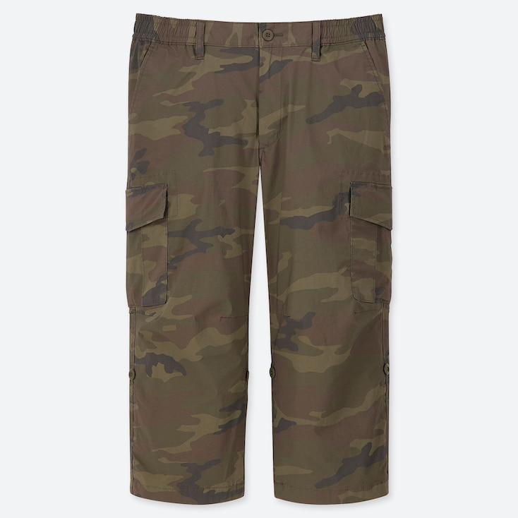 MEN PULL-ON ROLL UP 3/4 CARGO PANTS (ONLINE EXCLUSIVE), OLIVE, large