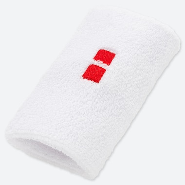 TENNIS WRISTBAND (ROGER FEDERER 19 US), WHITE, medium
