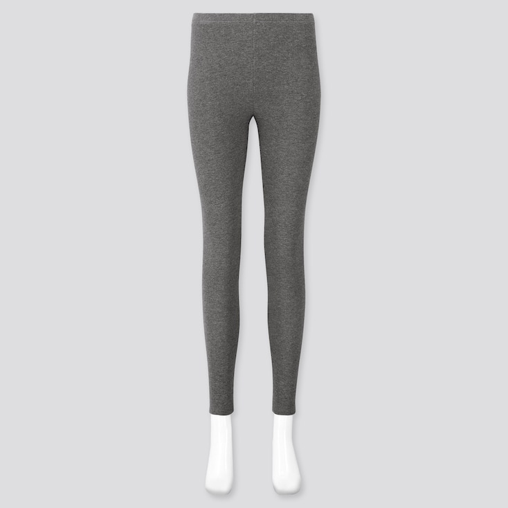 Women Waffle Leggings, Dark Gray, Large