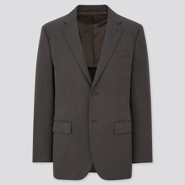 MEN STRETCH WOOL JACKET (ONLINE EXCLUSIVE), DARK GRAY, medium