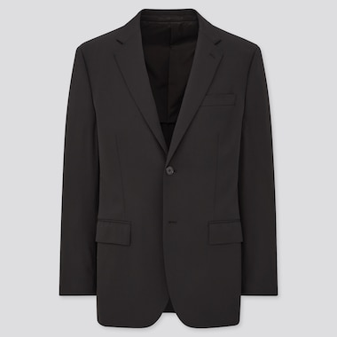 Men Stretch Wool Jacket (Online Exclusive), Black, Medium