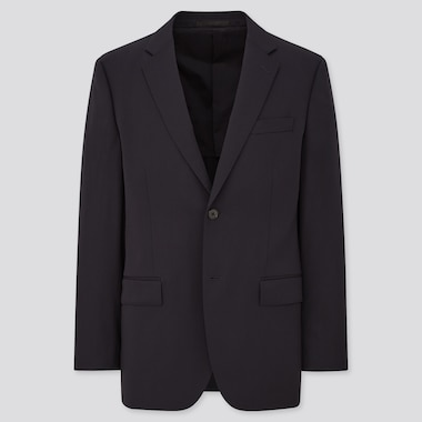 Men Stretch Wool Jacket (Online Exclusive), Navy, Medium