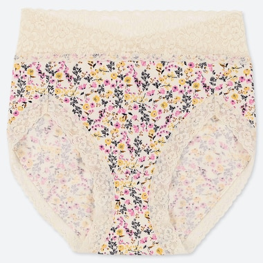 WOMEN HIGH RISE FLORAL PRINT BRIEFS