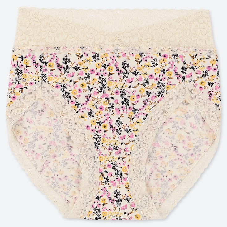 WOMEN GARDEN FLOWER HIGH-RISE BRIEFS, OFF WHITE, large