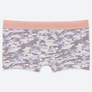 WOMEN CAMOUFLAGE BOY SHORTS, GRAY, medium