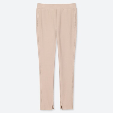 PANTALONI LEGGINGS A COSTINE DONNA