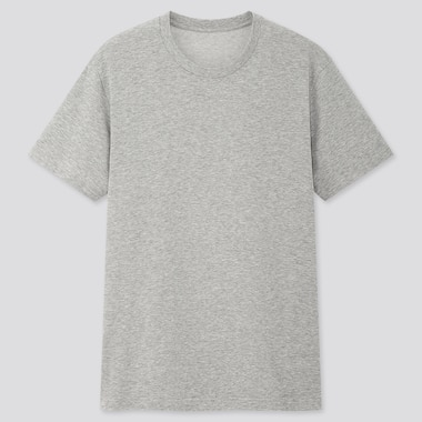 Packaged Dry Crew Neck Short-Sleeve T-Shirt, Gray, Medium
