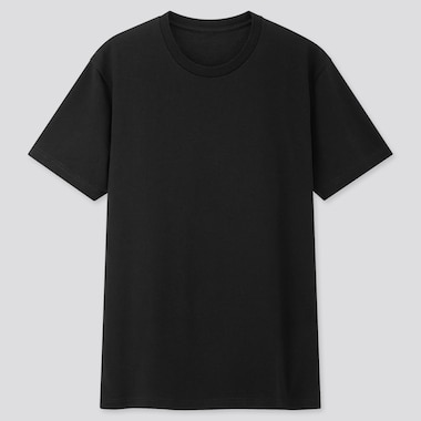 Men Packaged Dry Crew Neck Short-Sleeve T-Shirt, Black, Medium