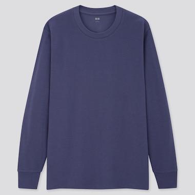 Men Soft Touch Crew Neck Long Sleeved T-Shirt