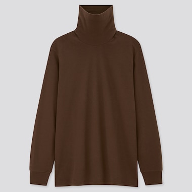 Men Soft Touch Turtleneck Long Sleeved T-Shirt
