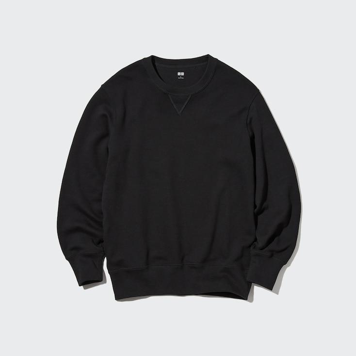 Men Long-Sleeve Sweatshirt, Black, Large
