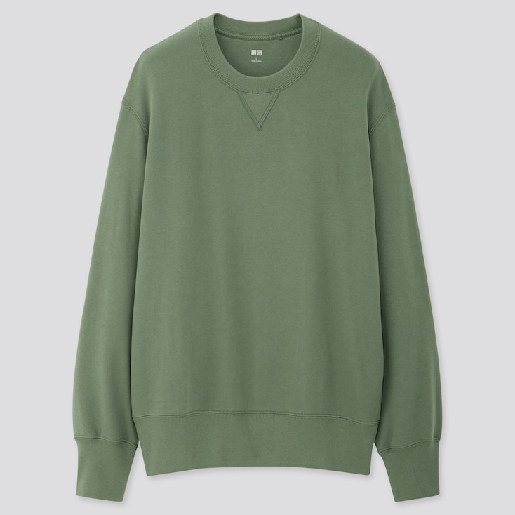 Men Long-Sleeve Sweatshirt, Green, Large