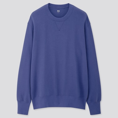 MEN LONG-SLEEVE SWEATSHIRT, BLUE, medium
