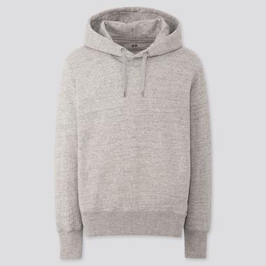 Men Long-Sleeve Hooded Sweatshirt, Gray, Medium