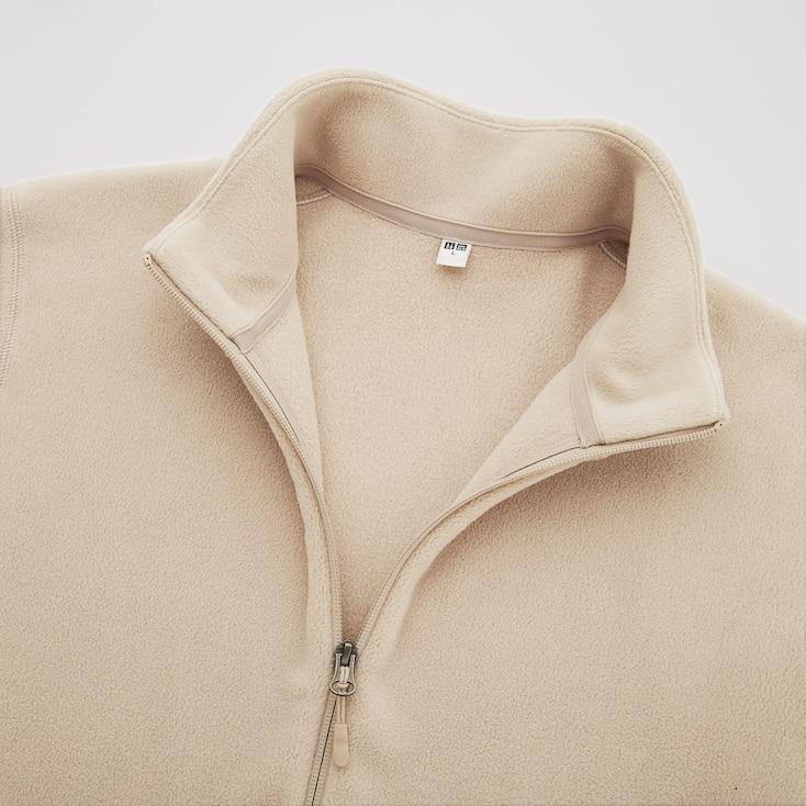 Men Fleece Long-Sleeve Full-Zip Jacket, Gray, Large