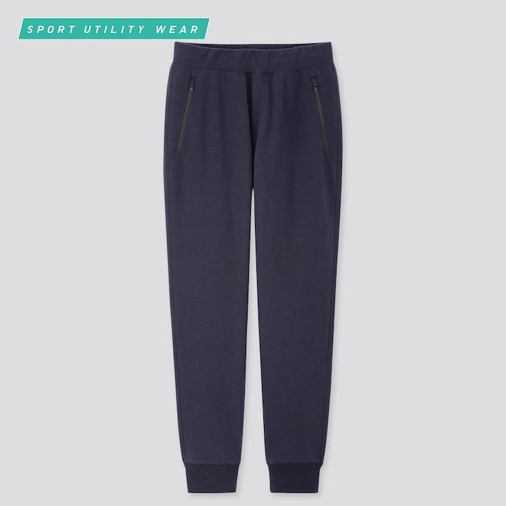 Men Dry Stretch Sweatpants, Blue, Large