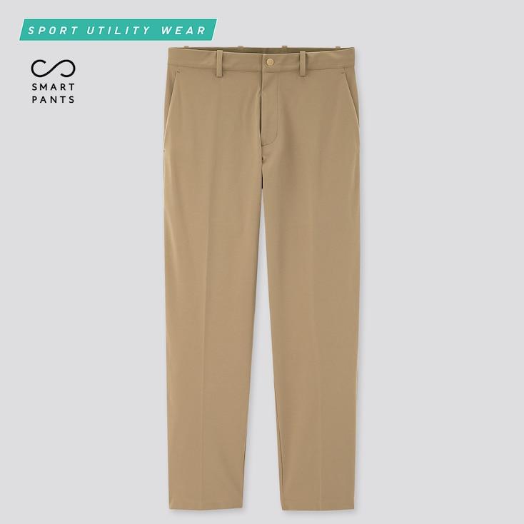 Men Smart Dry-Ex Ultra Stretch Ankle-Length Pants, Beige, Large