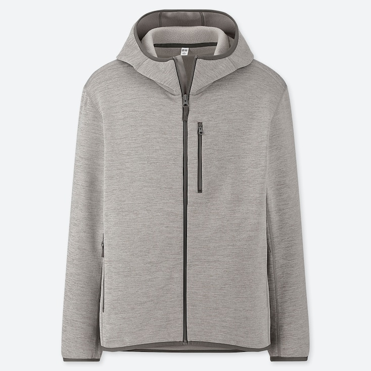 Men Stretch Fleece Long-sleeve Full-zip Hoodie (online Exclusive), Gray, Large