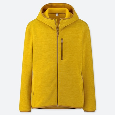 MEN STRETCH FLEECE LONG-SLEEVE FULL-ZIP HOODIE (ONLINE EXCLUSIVE), YELLOW, medium