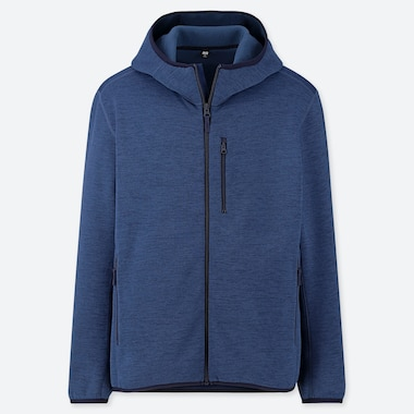 MEN STRETCH FLEECE LONG-SLEEVE FULL-ZIP HOODIE (ONLINE EXCLUSIVE), BLUE, medium