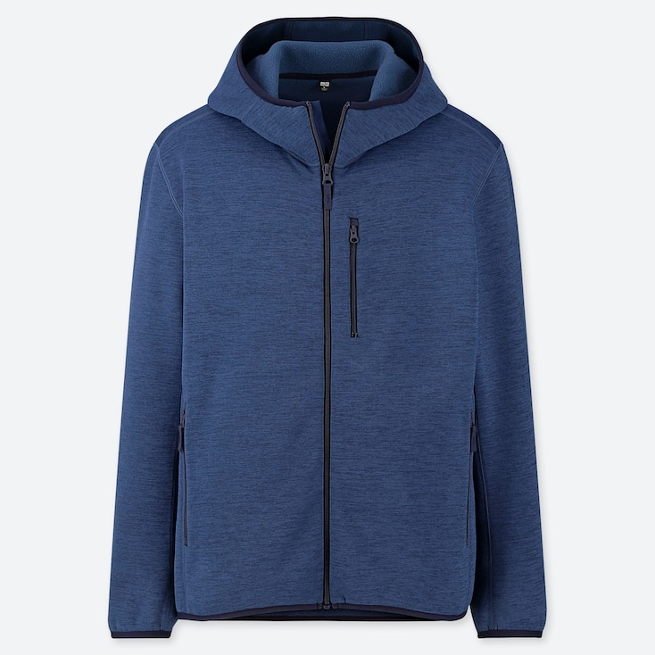 MEN STRETCH FLEECE LONG-SLEEVE FULL-ZIP HOODIE (ONLINE EXCLUSIVE), BLUE, large