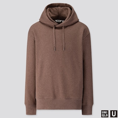 MEN U LONG-SLEEVE HOODED SWEATSHIRT, BROWN, medium