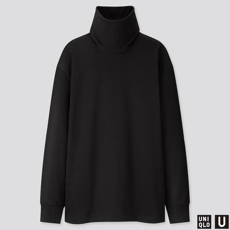 Men U Turtleneck Long-Sleeve T-Shirt, Black, Large