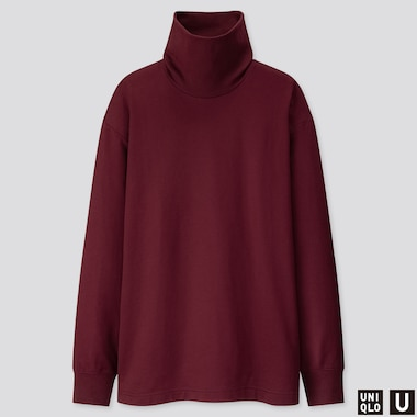 MEN U TURTLENECK LONG-SLEEVE T-SHIRT, WINE, medium