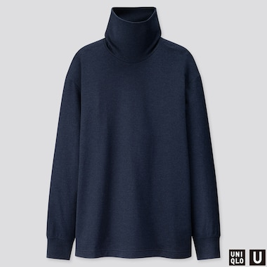 MEN U TURTLENECK LONG-SLEEVE T-SHIRT, NAVY, medium