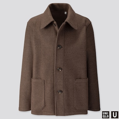 MEN UNIQLO U WINDPROOF LONG SLEEVED FLEECE JACKET