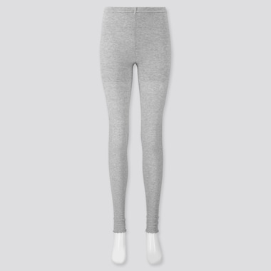 WOMEN RIBBED MERROW EXTENDED-LENGTH LEGGINGS, GRAY, medium