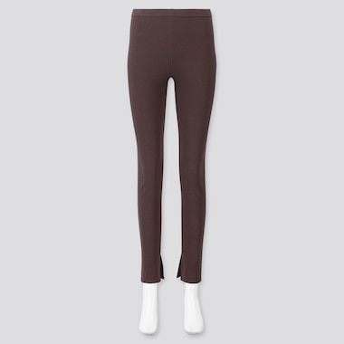 LEGGINGS A COSTINE CON SPACCO DONNA