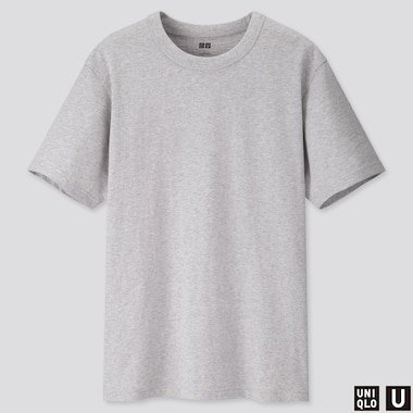 Men U Crew Neck Short-Sleeve T-Shirt, Gray, Medium