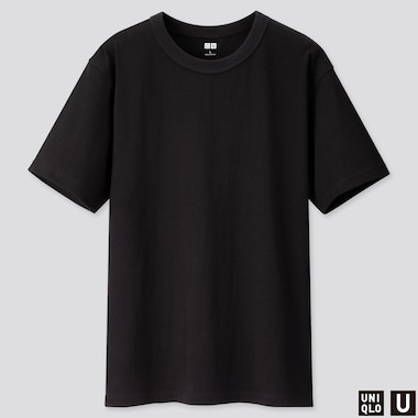 Men U Crew Neck Short-Sleeve T-Shirt, Black, Medium