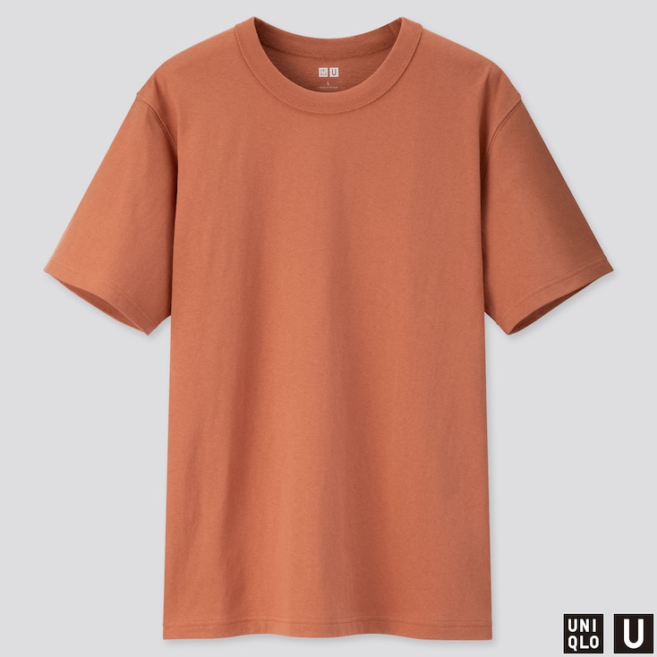 Men U Crew Neck Short-Sleeve T-Shirt, Orange, Large
