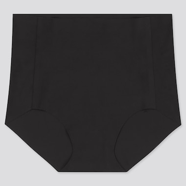 WOMEN AIRism ULTRA SEAMLESS HIGH-RISE BRIEF, BLACK, medium