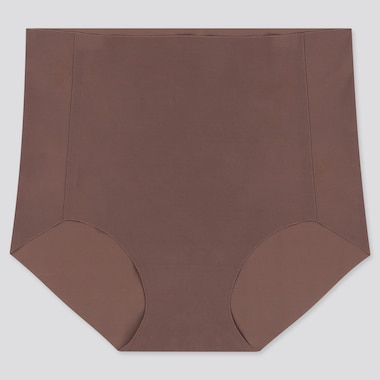 WOMEN AIRism ULTRA SEAMLESS HIGH-RISE BRIEF, BROWN, medium