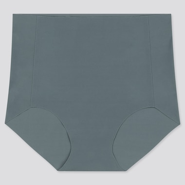 WOMEN AIRism ULTRA SEAMLESS HIGH-RISE BRIEF, DARK GREEN, medium