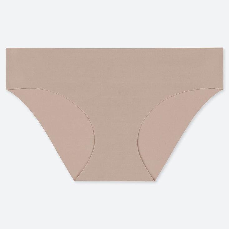 Women Airism Ultra Seamless Bikini, Khaki, Large