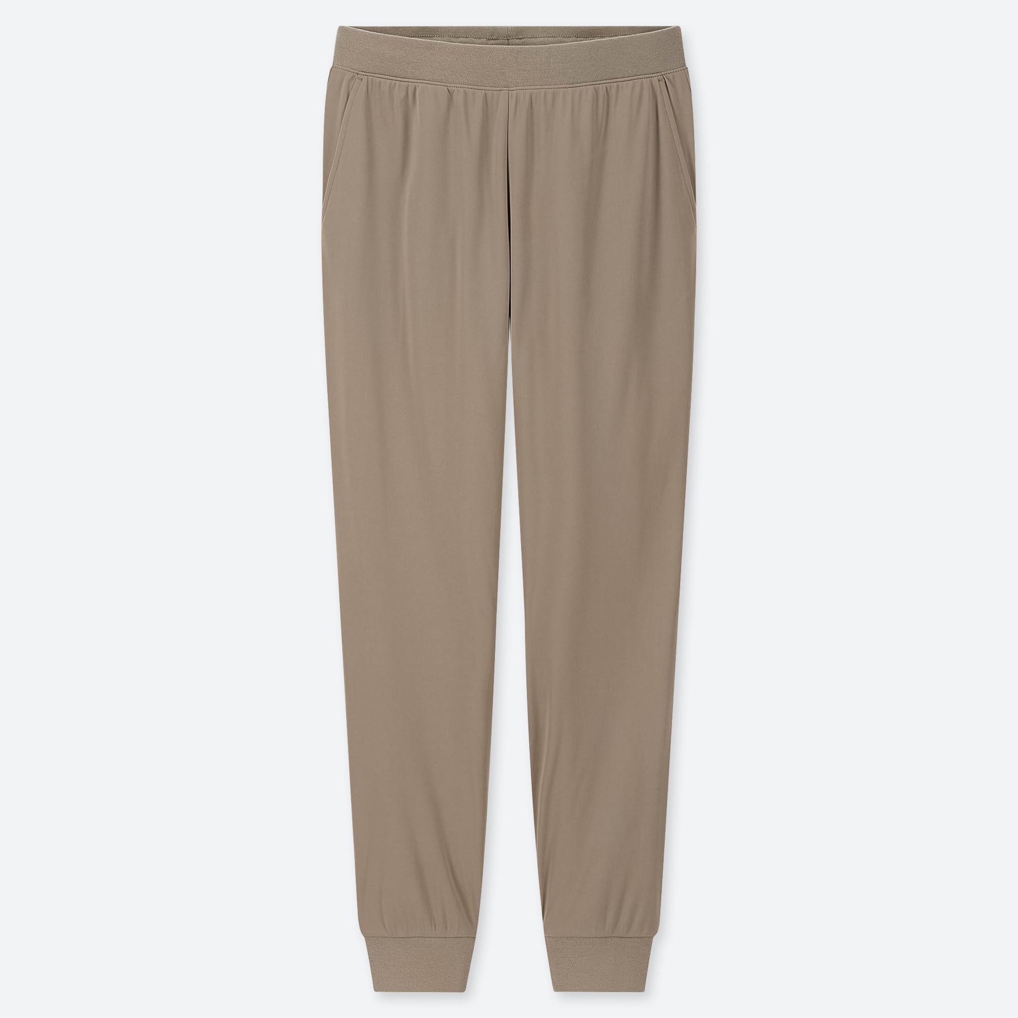 WOMEN STRETCH PILE-LINED FLEECE PANTS