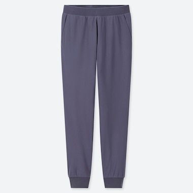 WOMEN STRETCH PILE-LINED FLEECE PANTS, BLUE, medium