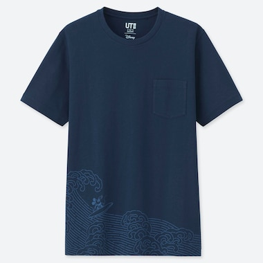 UT MICKEY BLUE T-SHIRT GRAPHIQUE HOMME