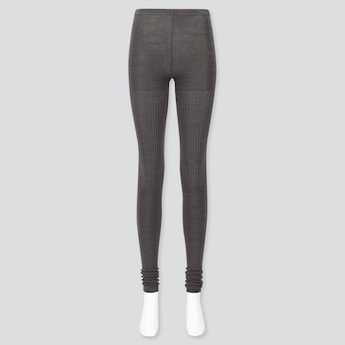 WOMEN HEATTECH JERSEY KNITTED EXTRA LONG LEGGINGS