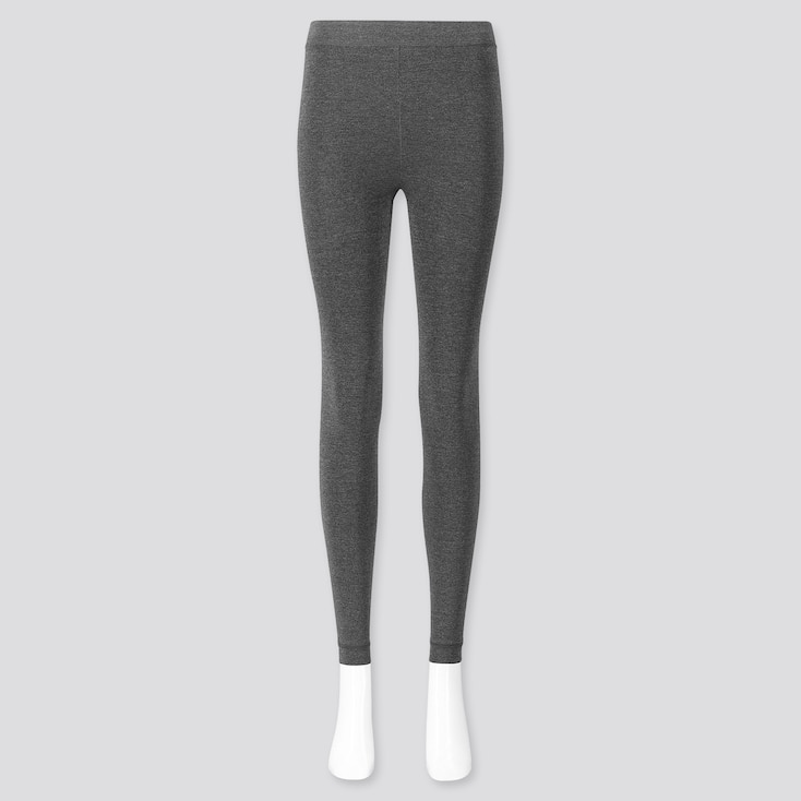 WOMEN HEATTECH EXTRA WARM PILE-LINED LEGGINGS, GRAY, large