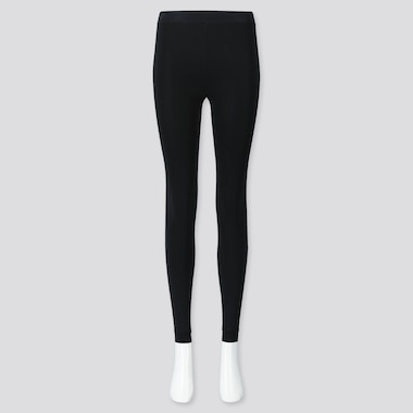 WOMEN HEATTECH EXTRA WARM PILE-LINED LEGGINGS, BLACK, medium