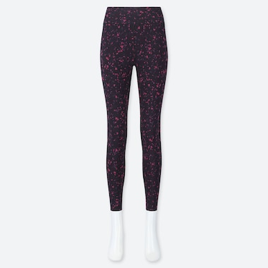 Women Airism Soft Printed Leggings, Purple, Medium