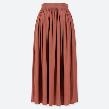 WOMEN GATHERED MIDI SKIRT