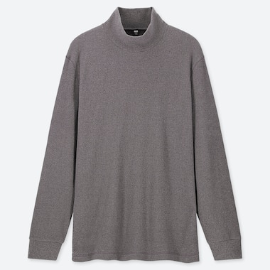 MEN HEATTECH FLEECE STRETCH MOCK NECK LONG SLEEVED T-SHIRT