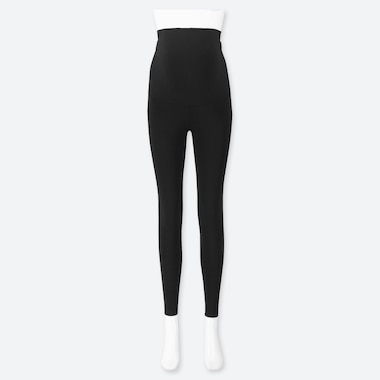 WOMEN MATERNITY LEGGINGS (ONLINE EXCLUSIVE), BLACK, medium