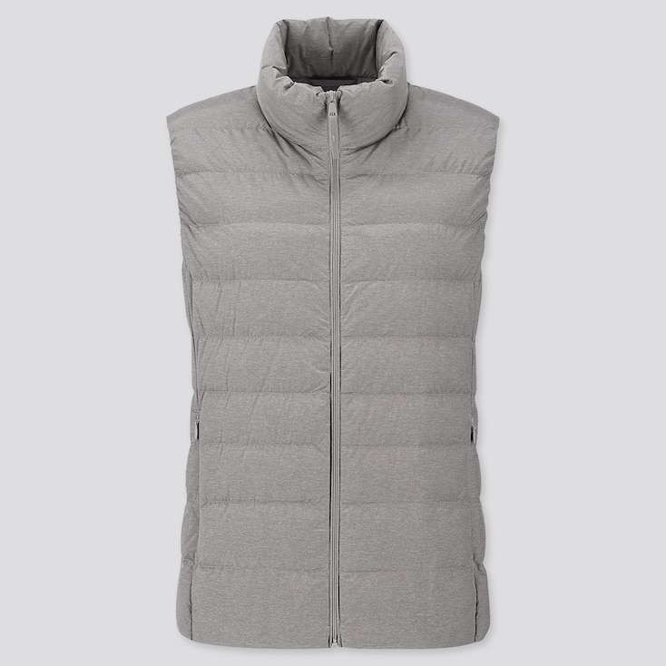 WOMEN ULTRA LIGHT DOWN VEST, GRAY, large